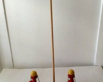 Vintage Wooden Push Toy by Brio Toy Company Sweden,  1950s Vintage Hand Crafted  Wooded Push Toy.