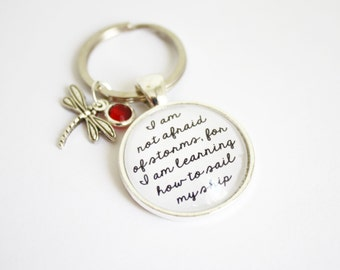 Little Women keyring. Louisa May Alcott. Fond of books. Afraid of storms. Jo March. Meg. Beth. Amy. Marmee. Custom Keychain. Personalized