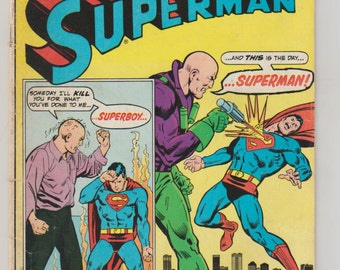Superman; Vol 1, 292, Bronze Age Comic Book.  VG (4.0). October 1975.  DC Comics