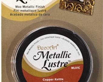 Decoart Metallic Lustre-Copper Kettle-Wax Metallic Finish-1 fl. oz.