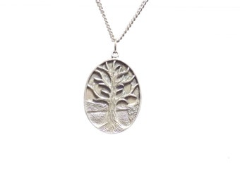 Tree of life necklace,  tree pendant,  pewter jewelry, necklace,  pendant, pewter tree necklace