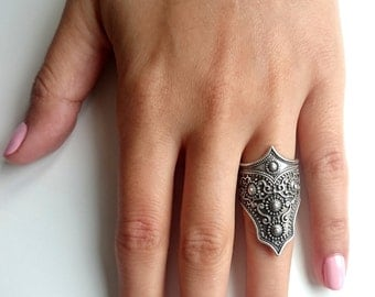 OTTOMAN RING / / ring/Turkish silver plated jewelry / / BohoRing / / Gypsy / /.