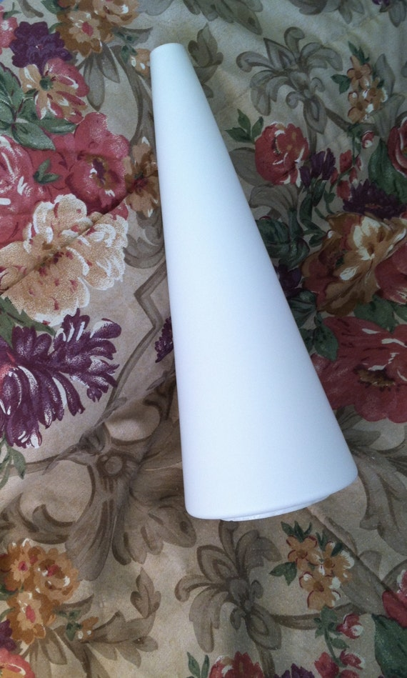 Rare cone shaped glass shade 3 14 inch fitter size cone like this item aloadofball Images