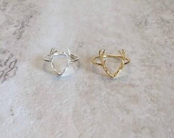 Antler Ring, Antler Jewelry, Deer Antler Ring, Silver Antler Ring, Animal Lover Jewelry, Animal Ring, Animal Jewelry