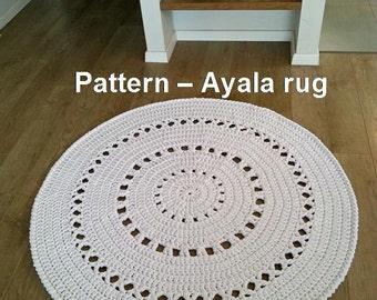 Pattern for Ayala rug, T-shirt yarn rug