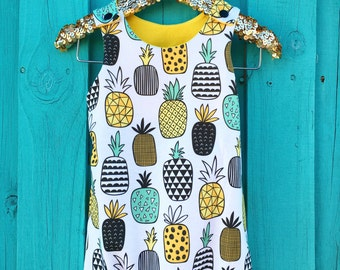 Pineapple Short Romper