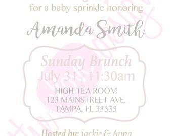 String Lights Baby Sprinkle Invitation