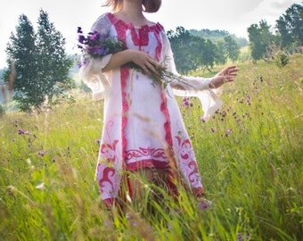 Felted wedding dress in the Russian style