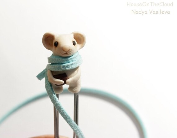 Cute mouse bookmark gifts for best friends child in school children's book scarf gifts for bookworms reading accessories animal miniatures