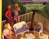 Barbie Fashion Doll - Patio Furniture Plastic Canvas Pattern - The Needlecraft Shop #923718