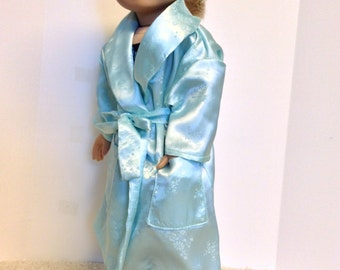 18 Inch Doll Robe, Green Robe and nightgown Set, Sleepwear