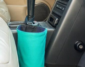 Car trash bag - handmade vehicle organizer, litter bag - auto trash bag can - car accessories, reusable garbage bag