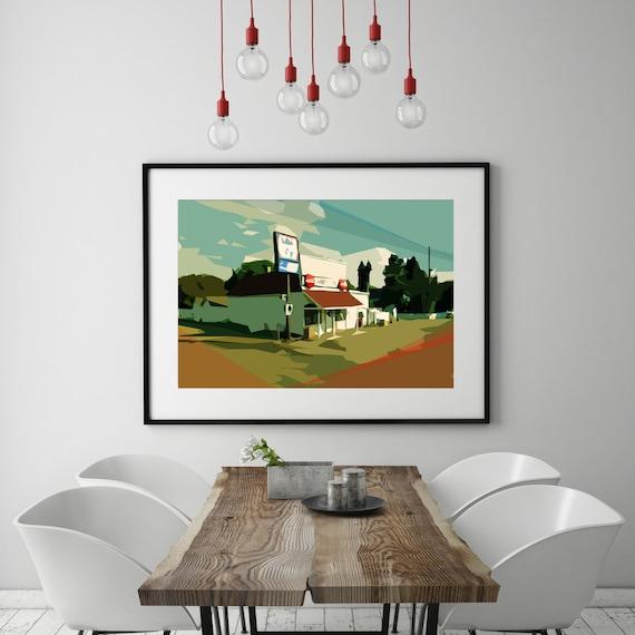 Modern wall art mid century modern art print abstract - Mid century modern wall decor ...