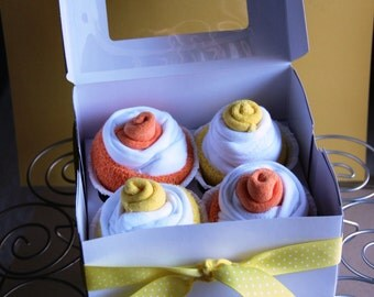 Newborn Cupcake Onesie Gift Set - Boy, Girl or Gender Neutral