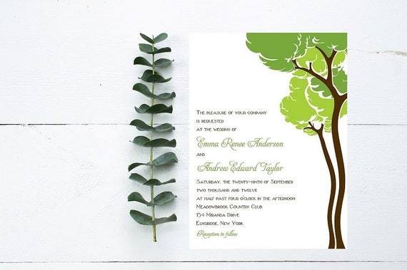 Woodsy Wedding Invitations - Outdoor wedding