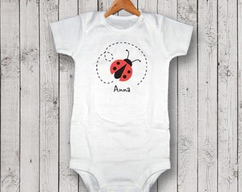 Personalized Ladybug One Piece, Bodysuit, Creeper, T-Shirt, Baby GIft, New Baby Gift