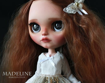 reserved for Susie -  - Madeline - custom ooak Blythe doll - unique art doll by KarolinFelix
