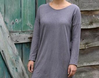 Drop Shoulder Box Tunic-Organic Cotton and Hemp