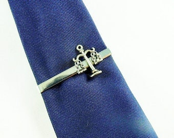 Tie Clip, Lawyer Scales of Justice Silver Mens Accessories