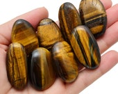 1 MedLrge Gold Tiger's Eye Palm Soap Stone Healing Crystal Gold Tiger's Eye Tumbled Stone Prosperity, Power, Courage #W9