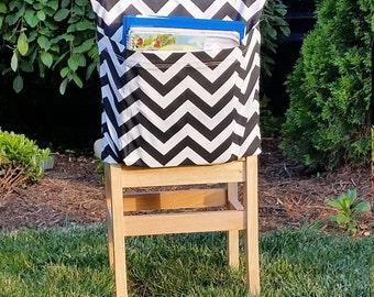 Preschool Chair Pockets // Seat Sacks // Classroom Organization <<12 inch VALUE>>  Black Chevron // CoffeeKidsNDolls // End of Year SALE
