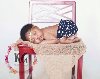 Fourth of July Headband, Gold Baby Headband, Baby Girl Headband, Star Headband, 4th of July Baby Headband, Newborn Headband, Gold Headband