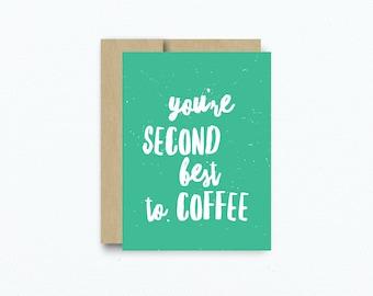 Valentine's Card For Boyfriend. Coffee lover Card. Valentine's Day Card. Coffee Card for Girlfriend Boyfriend. Card for Husband. Item # C124