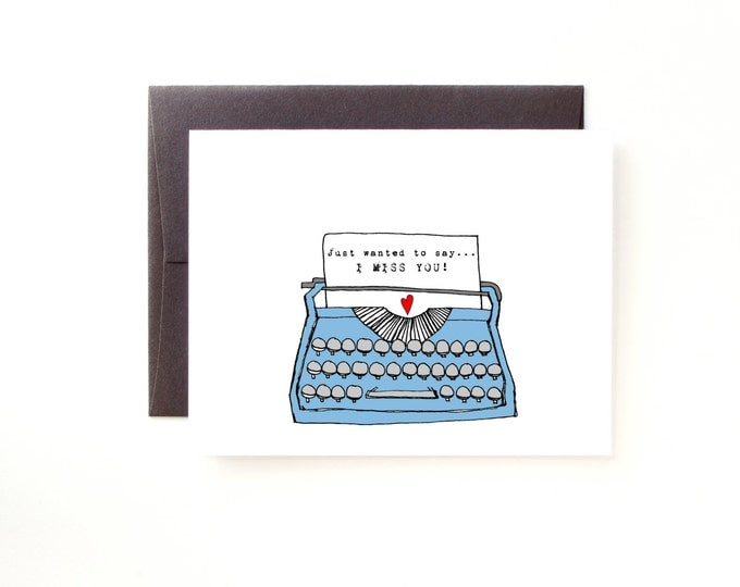 Vintage Typewriter Miss You