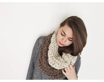 Chunky Knit Infinity Cowl - Ombre