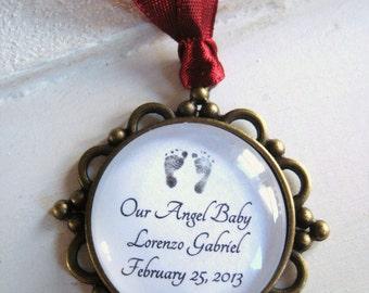 Christmas Ornament Keepsake, customizable, memorial ornament, infant loss, child loss, miscarriage, stillborn, memorial jewelry, handmade