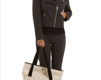 Biker Jacket, Moto Jacket, Crop Jacket, Cotton zipped Motorcycle jacket, Spring Jacket, aesthetic clothing, gift for her