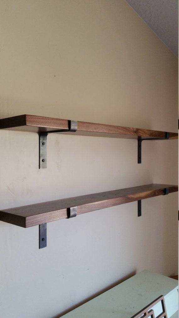 FREE SHIPPING Walnut Shelf Complete DIY Kit Modern