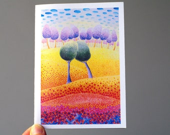 Beautiful anniversary card Beautiful cards Blank Greeting card for wife Card Happy anniversary Nature card for friend Paper goods Blank card
