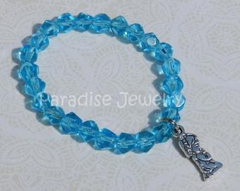 Baptism Gift, Praying Girl Charm, Antique Silver, Bead Bracelet, Small Child Jewelry, Little Girls, Handmade Jewelry
