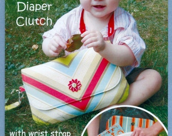2010 Sew Fun Grab 'n' Go Diaper Clutch with Wrist Strap and Quilted Changing Pad Uncut Factory Fold - Sew Fun Sewing Pattern 104