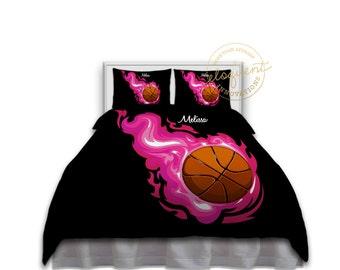 Basketball Comforter Set Girls Bedding Kids In Pink And Black