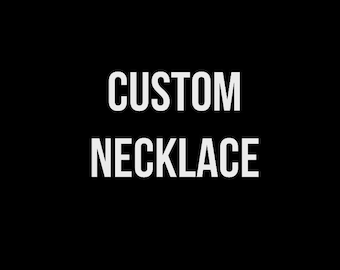 CUSTOM Hustle necklace on tshirt yarn-Please note adult or child size in comments at checkout