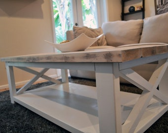 Custom Rustic Farmhouse Coffee Table