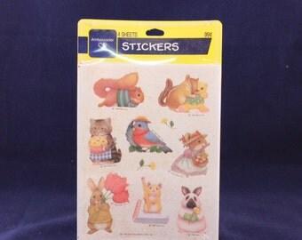 36 Pressure Sensitive Sealed Stickers American Greetings Animal Holiday Seals