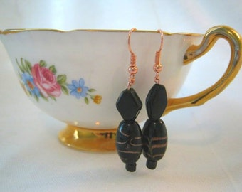 Earrings- Black & Copper