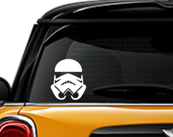 Storm Trooper, Star Wars decal, fantasy, FREE SHIPPING, White vinyl decal, laptop decal, window decal, character #236