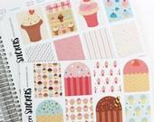 SALE! Cupcakes Full Boxes (Erin Condren Stickers)