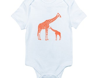 Giraffe bodysuit is great for zoo and safari animal lovers and makes the perfect baby shower gift
