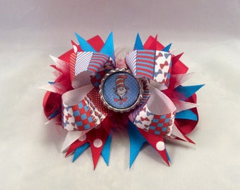 The Cat in the Hat Hair Bow