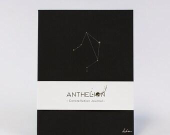 Libra Black Constellation Zodiac Sign Journal