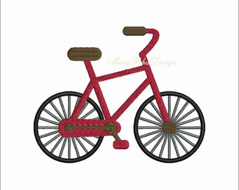 Bicycle Embroidery Design, Machine Embroidery Design, Instant Download