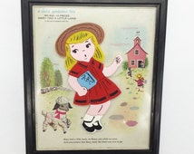 Vintage Child Guidance Toy / Puzzle with Mary Had a Little Lamb from 1962. Plastic with Frame