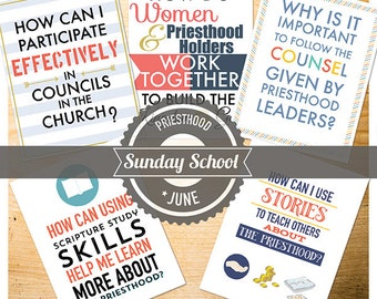 June {Come Follow Me} Sunday School Lessons