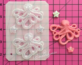 ON SALE Octopus set flexible plastic resin mold
