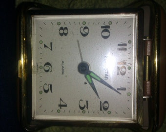 travel clock retro